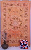 Indien Coton Tapisserie Tenture Mural Mandala Couvre-Lit Décor Bohème