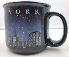 New York City Skyline Coffee Mug Black Sparkle Liberty Twin Towers Souvenir