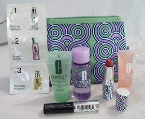 Clinique 7 Piece Set Jonathan Adler Plum Pop Lip Mascara Soap Remover Surge