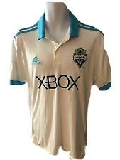 🔥 Seattle Sounders Soccer Jersey M 2017 MLS Xbox adidas Neon Blue White