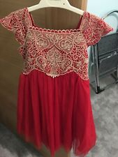 **Brand New** Monsoon Baby Estella Red Dress Party / Bridesmaids Age 6-12 Months