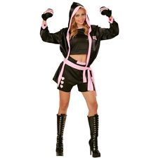 Medium Ladies Boxer Girl Costume - Widmann 73961adult Womens Top Shorts Jacket