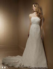Mori Lee Designer Bridal Lace Wedding Dress Size14 Style 2185 Francesca RRP £699