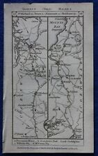 Original antique road map CORNWALL, HAMPSHIRE, TRURO, PENZANCE, Paterson, 1785