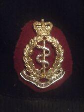 BRITISH ARMY BERET W/ BADGE ROYAL ARMY MEDICAL CORPS