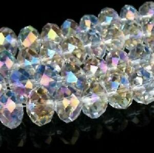 4x3mm crystal glass multi-faceted wheel spacer beads 420pcs