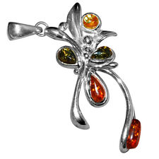5.43g Authentic Baltic Amber 925 Sterling Silver Pendant Jewelry A1715