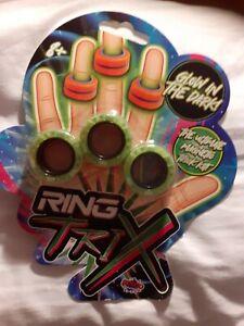 Ring Trix Magnetic Fidget Toy Glow in the Dark Calm De Stress Ultimate Kit