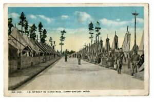 MS Mississippi Hattiesburg Camp Shelby 152nd Military Forrest County Postcard
