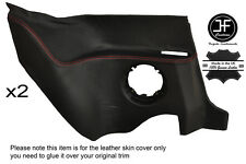 RED STITCHING 2X REAR LOWER PANEL LEATHER COVER FITS RENAULT ALPINE GTA V6