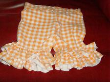 GUC Kpea size 8 girls ruffle shorts shorties sherberty orange gingham summer