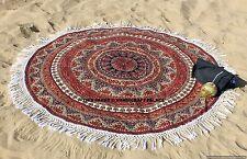 Elephant Mandala Round Indian Hippie Beach Throw Wall Hanging Yoga Mat Tapestry