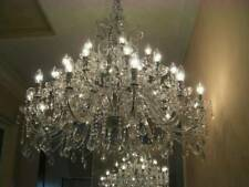 30-arm, 3-tier crystal chandelier, absolutely massive
