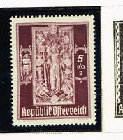 Austria King and Coats of Arms stamp 1946 MLH