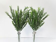 Pack of 2 Artificial Rosemary Bush - 34cm - Decorative Plastic Herb Plant