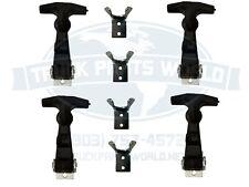 (4) Buyer Products Rubber Hood Latch Bungee Latch Battery Latch W/ Bracket&Pin