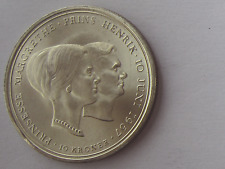 Silbermünze  10 Kroner 1967, Margrethe und Henrik