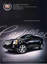 "2007 Cadillac SRX Crossover photo ""Best Luxury Coverage"" promo print ad"