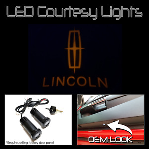 Lumenz CL3 Amber LED Courtesy Logo Lights Ghost Shadow GOBO for Lincoln 100622