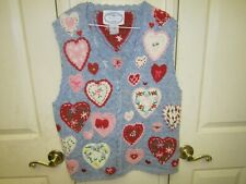 Vintage Eagle's Eye Collectibles Hearts Sweater Vest Size Small Valentines Love