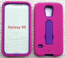 PINK/PURPLE ARMOR Case Cover For Samsung Galaxy S5 / G9009D G900A G900T G900W8