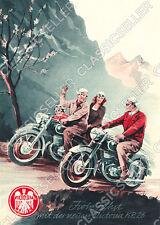 Victoria KR 26 KR26 Motorrad Poster Plakat Bild Kunstdruck Reklame Werbung Deko