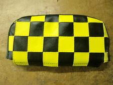 Negro/Amarillo compruebe Scooter respaldo cubierta (Bolso Estilo)
