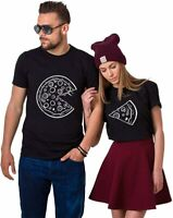 "Partner Pärchen Herren & Damen T-Shirt SET ""Große & Kleine PIZZA"" KING QUEEN"