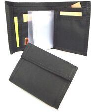 Men's Bifold Black Nylon Wallet. Hook & Loop Closure.  Rainbow of California USA