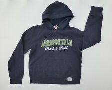 Aeropostale Womens Size M Blue Track & Field Hoodie Sweatshirt Good Condition