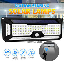 136 LED 4 Sides Solar PIR Motion Sensor Wall Light 3 Modes Outdoor Garden Lamp