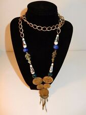 Vintage Peruvian Coins & Beads Necklace