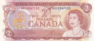 1974 Canada $2 Note, Pick 86b