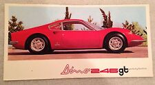 Ferrari 246Gt Pininfarina Brochure See Photo's Reprint. Rare Own It