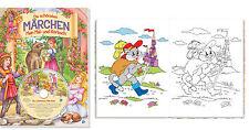 Livre A Colorier Coloration Du Livre Malblock la plus beau Conte de fées avec CD