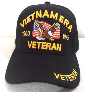 VIETNAM ERA VETERAN MILITARY CAP  (BLACK) HAT NEW