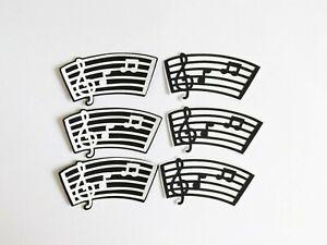Music Sheets Musical Papercraft Embellishments Scrapbooking Card Making Crafts