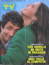 SORRISI 35 1985 Ornella Muti Madonna Rosanna Arquette Tony Esposito Novecento