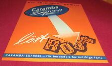 prospekt blatt caramba express auto chemie rüttgerswerke reklame werbung 1956