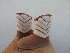 UGG TANIA CHESTNUT SUEDE SHEEPSKIN CUFF WINTER BOOTS, US 6/ EUR 37 ~ NIB