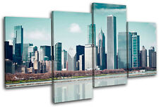 Cityscape City MULTI DOEK WALL ART foto afdrukken