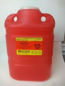 The Becton-Dickinson Incorporated BD Sharps Collector 8.2 qt Large, Red Bulk New
