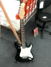 More details for stagg black electric guitar with stand cs g20