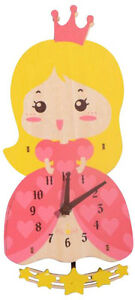 ~ Pretty As A Princess ~ Doll Baby Childs Girls Wall Clock Childrens Baby