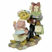 Boyds Bears Ms Shopsalot w/Schlepper Just One More Shop Bearstone Figurine 2007