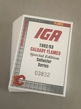 1992-93 IGA GROCERY CALGARY FLAMES TEAM SET - MINT !!