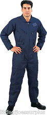 LARGE NAVY BLUE Flight Suit Air Force Style Fighter Flight Coveralls 7503