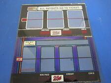 Lot of 2 Bally Gaming Inc. 1 Payline Reel Glass Blue Slot Machine Casino -