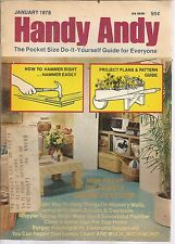 Handy Andy January 1978 Lower Lights And Electric Bills With Dimmer Switches