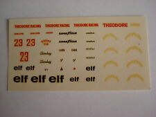 F1 DECALS KIT 1/43 ENSIGN F1 N 177 THEODORE 1977 PATRICK TAMBAY 1/43 DECALS